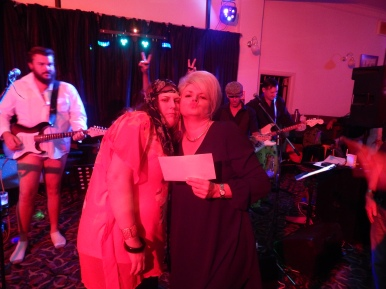 """Best Costume Winners! Justine & Anna (""""Eddy & Patsy, darling! Absolutely Fabulous!"""""""